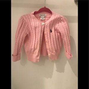Ralph Lauren button down pink sweater
